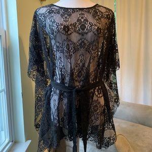 Black lace kaftan